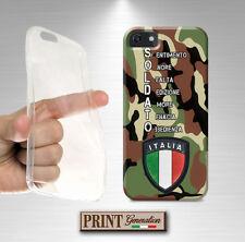 Cover per Apple Iphone 4 5 5S 5G 5C 6 6s PLUS,soldato,MILITARE,mimetica,silicone