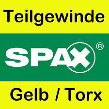 Original Spax Spanplattenschrauben gelb Torx Teilgewinde Größe nach Wahl