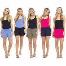 Womens Summer Holiday Ladies Jersey Cotton Hot pants beach Shorts