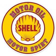 Vintage GAS SHELL MOTOR OIL Metal Sign Man Cave Garage Body Shop Barn Shed