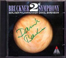 Daniel Barenboim SIGNED Bruckner Symphony No. 2 Nowak CD Filarmonica di Berlino