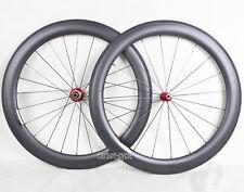Sapim 60mm Carbon Wheel Clincher Road Bicycle Rim 700C 11s 3k Matt 25mm Novatec