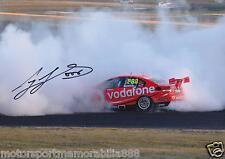 Craig Lowndes 2012 SIGNED 6x4 or 8x12 photo V8 Supercars VODAFONE BURNOUT HOLDEN