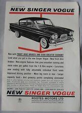 1962 cantante Vogue Original anuncio No.1
