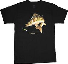 Walleye shirt men's fishing t-shirt black t-shirt walleye fish lure tee