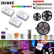 5M 10M Set ZigBee ZLL RGB+CCT RGBW RGB Kontroller 12V 24V LED Lichtband+Netzteil