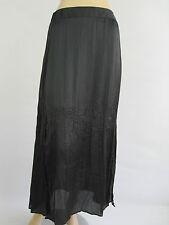 Katies Ladies Elastic Back Crinkle Maxi Skirt sizes 8 10 Colour Black