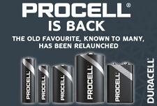 Duracell Industrial Procell Batteries Alkaline AA AAA C D 9V