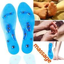 1 Paar Silikon Massage Einlegesohlen Magnetische Fußtherapie Schmerzlinderung
