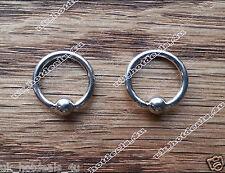 UK SELLER Captive Bead Ring CBR Steel  Ear, Nipple,Prince Albert Tragus 0.8-10mm