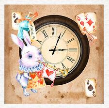 Alicia en el país de las Maravillas, Reloj De Conejo Blanco, Panel De Tela De Tapicería Craft