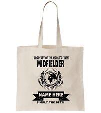 Midfielder Football Personalised Tote Bag Shopper Thanks Amend Birthday Gift