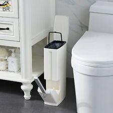 Br 6L Plastic Trash Can with Toilet Brush Set Bathroom Waste Bin Toilet Dustbin