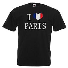 I Love Cuore Parigi Francia T-Shirt Tutte le Taglie e Colori