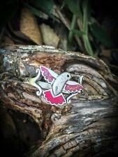 Hummingbird Ring, 925 Sterling Silver ring, Pink Opal Ring pink resin ring
