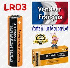 Piles LR3 LR03 AAA DURACELL INDUSTRIAL MN2400 ( équivalent Alcaline PLUS POWER )