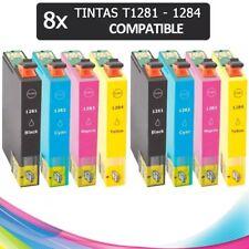 PACK 8 TINTAS T1281 T1282 T1283 T1284 T1285 COMPATIBLE IMPRESORA NONOEM CARTUCHO