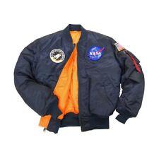 ALPHA INDUSTRIES MA-1 NASA FLIGHT JACKET REPLICA BLUE NYLON    MJM21093C1