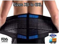 Neoprene Deluxe belt ~Double Pull Lumbar Lower Back Support Brace Waist trainer