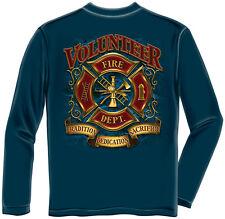Erazor Bits Long Sleeve T-Shirt Volunteer Firefighter Tradition Sacrifice Navy