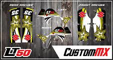SUZUKI LT50 LTA50 KIT GRAFICHE ADESIVI QUAD Decalcomanie Grafiche LT50 un LTA 50