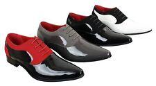 Hommes Verni Brillant En Daim Chaussures En Cuir Smart Formal lacée design italien