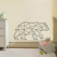 ORIGAMI BEAR WALL STICKER Bedroom Decal Art Mural Stencil Silhouette ST242