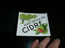 Ancienne Etiquette pour bouteille d'Eau de Vie de Cidre ( Calvados ? )