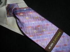 NEW BCBG ATTITUDE silk tie VIOLET PURPLE