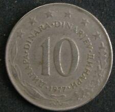 SFR Jugoslawien 10 Dinar 1977 Jugoslavija