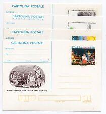 1985 ITALY REPUBBLICA 5 CARTOLINE POSTALI ANNATA COMPLETA NUOVA B/6977