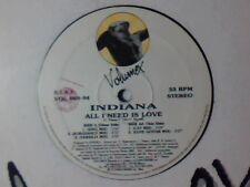 """INDIANA All i need is love 12"""" ITALO ZONE"""