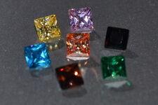 Flawless Single 3 or 4mm Princess Cut Simulated Diamond.