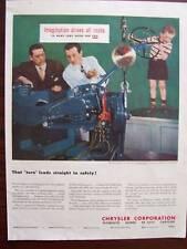 1948 Chrysler Steering Imagination Drives All Roads Advertisement
