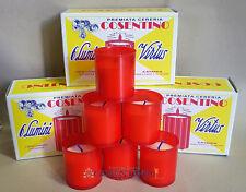 Lumino, Luminello,Lumino votivo in plastica rosso bianco 6 pezzi Colosso 10b