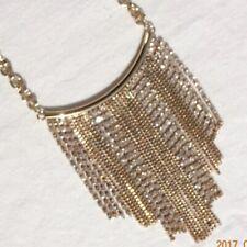 Designer Jewelry Woman Vintage Victorian Necklace Choker - Gold Mesh Chain JN31