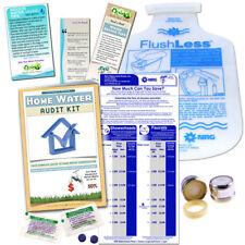 Home Water Audit Bathroom Kit, leaks, faucet, toilets