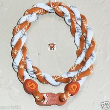 Phiten Tornado Necklace Custom: Burnt Orange/White