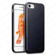 Funda +CRISTAL TEMPLADO Opcional para iPhone 8 silicona Gel Mate TPU NEGRO NEGRA