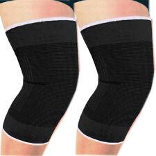 Black Extra Large Knee support brace leg arthritis injury sleve bandage pad wrap