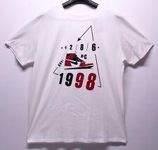 Air Jordan Retro 1 White Toe Chicago 1985 86 NYC T-Shirt Men's Size SM-3XL New