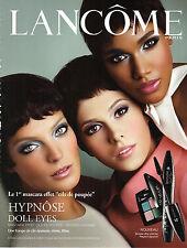PUBLICITE  2011   LANCOME  cosmétiques DOLL EYES