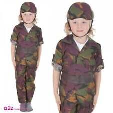 WW1 Soldato Dell/'esercito ABITO FANTASIA RAGAZZI Uniforme Militare Per Bambini Costume Outfit
