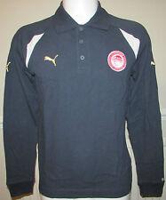 Mens Puma Olympiakos Long Sleeved Cotton Polo Shirt Size M/L/XL Olympiacos BNWT