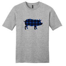 Custom Pattern Pig Silhouette T-Shirt