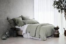 Sheridan Abbotson Belgian Linen Tailored Quilt Cover Pistachio