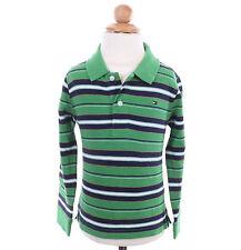 Tommy Hilfiger Children Boy Baby Toddler Long Sleeve Stripe Pique Polo Shirt