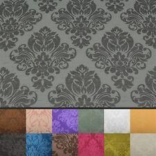 Floral del damasco Imitación Seda Jacquard Cortina De Tela De Tapicería material 12 Colores