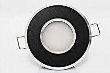 LED Ambientes húmedos Foco empotrado redondo cepillado Aluminio negro BAD 3,4,