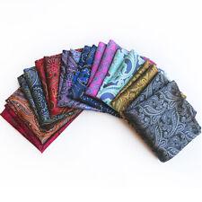 Factory Men's Handkerchief Pocket Square Paisley Floral Chest Tower Silk Hanky